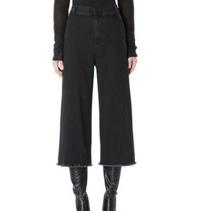 Siwy 'Catherine' black cropped wide legged jeans